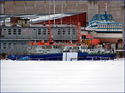 Спущен на воду служебно-разъездной катер с ледовым усилением «Боспор» проекта ST23WIM