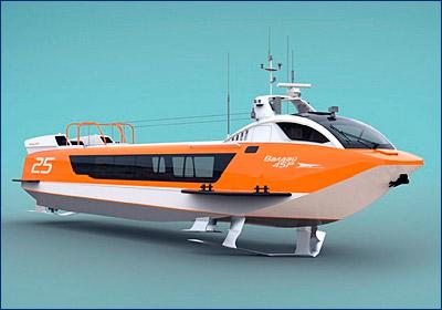 Судно на подводных крыльях «Валдай-45Р» будет спущено на воду в начале лета