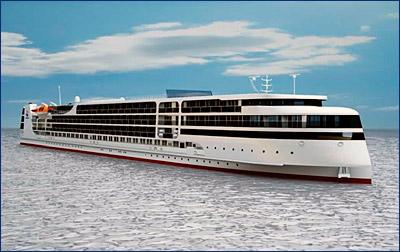Строительство новейшего речного лайнера PV300VD