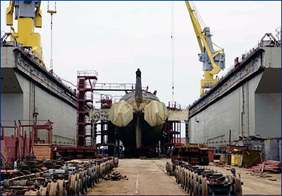 Атомный подводный ракетоносец «Рязань» вернулся в строй после пятилетнего ремонта