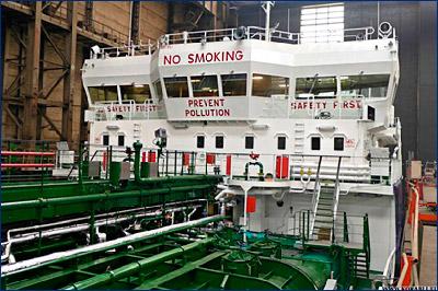 Завод «Красное Сормово» спустил на воду второй танкер проекта RST27 «Pioneer-2»
