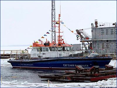 Спущен на воду рабочий катер с ледовым усилением «Евгений Васильев»