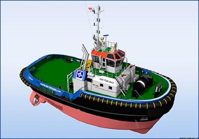 Meyers Group заказала два буксира проекта Damen ASD 2913 для новых шлюзов Панамского канала