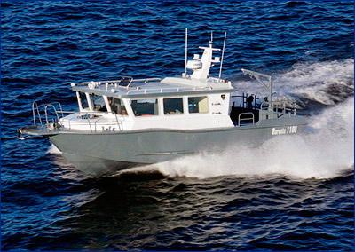 Испытания катеров «Баренц 1100»