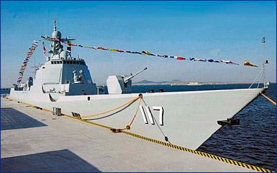Испытания и стрельбы новейшего эсминца Китая прошли в Желтом море