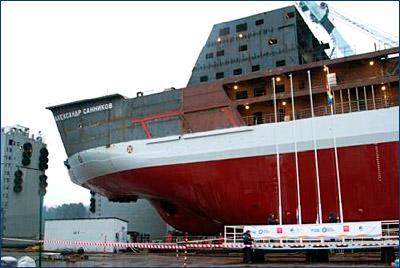 На ледокольное судно обеспечения «Александр Санников» установлены ВРК Azipod