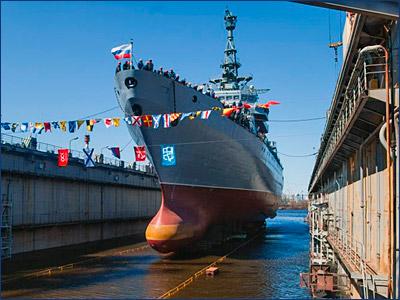 В Петербурге спустили на воду разведывательное судно «Иван Хурс»