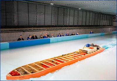 Модель ледокола «Лидер» была испытана в ледовом опытовом бассейне Крыловского ГНЦ