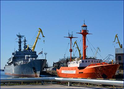 На Кронштадтском морском заводе маяк «Ирбенский» готовится к морскому переходу