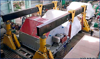 Электродвигатели «Русэлпрома» погружены на ледокол «Сибирь»