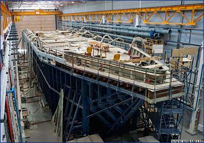 На СНСЗ завершена сборка корпуса корабля «Иван Антонов»