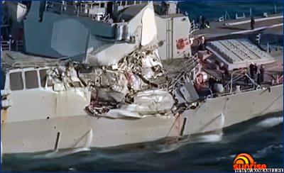 Ракетный эсминец USS «Fitzgerald» (DDG 62) ВМС США столкнулся с торговым судном