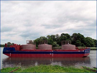 На Азовской судоверфи спущена на воду баржа «НБ Криница»