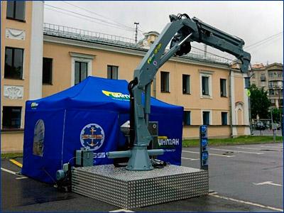 Завод «Инман» представил локализованный кран-манипулятор для МРК пр. 22800 «Каракурт»