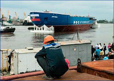 Второй атомный ледокол типа «Арктика» спустят на воду в конце сентября