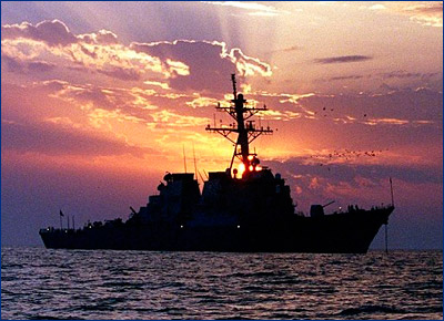 В США ввели в строй новейший ракетный эсминец «Джон Финн»
