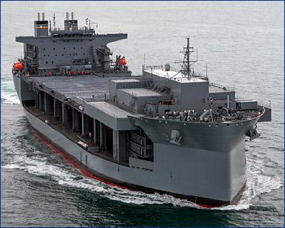 Плавучая база USNS «Lewis B. Puller» (T-ESB-3) начала свое первое развертывание