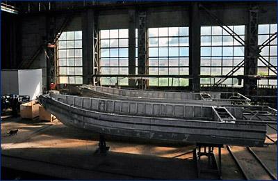 На «Рыбинской верфи» ведется строительство 9 штурмовых лодок и 6 транспортно-десантных катеров