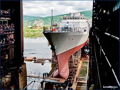 В Комсомольске-на-Амуре вывели из цеха второй корвет для Тихоокеанского флота