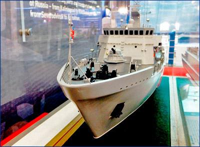Мореходность экспортного тральщика «Александрит» улучшится благодаря новой форме бака