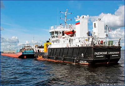 Обстановочное судно проекта BLV02 «Ладожский» модернизировано для выполнения функций буксира-толкача