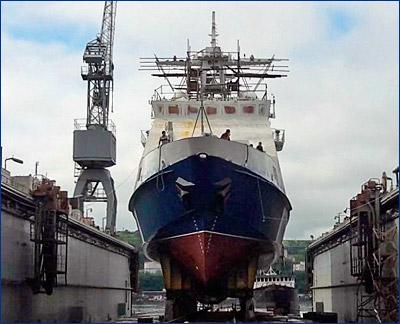 Во Владивостоке спущен на воду пограничный сторожевой корабль «Дозорный»