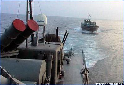Иранское военное судно заставило американский эсминец покинуть иранскую акваторию