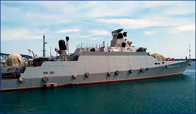 К испытаниям МРК «Вышний Волочек» привлекли фрегат «Адмирал Григорович»