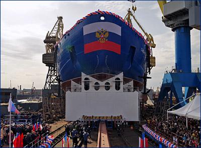Балтийский завод спустил на воду второй крупнейший в мире атомный ледокол