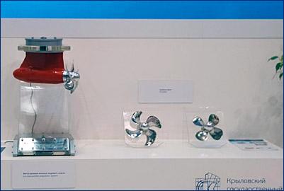 Крыловский центр показал винторулевую колонку с электродвижением