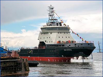 Начались госиспытания военного ледокола «Илья Муромец»