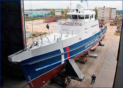 Модернизированный пограничный катер проекта 1496М1 шифр «Ламантин» спущен на воду
