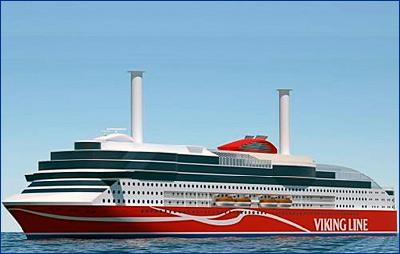 Инновационный круизный паром для Viking Line оборудуют Азиподами
