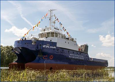 Морское водолазное судно-катамаран «Игорь Ильин» проекта SDS18 передано заказчику