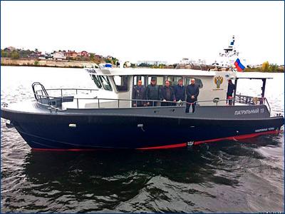 В городе Набережные Челны комиссия провела приемку нового патрульного катера «Патрульный-13»