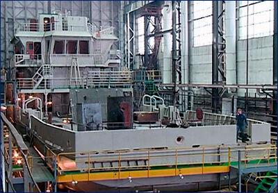 На Благовещенском судостроительном заводе завершена сборка корпуса судна «Александр Рогоцкий»