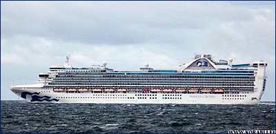 С борта круизного лайнера «Caribbean Princess» эвакуирован 84-летний пассажир