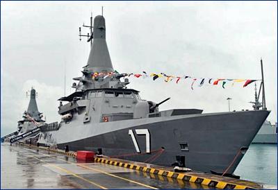 Флот Сингапура получил два патрульных корабля нового поколения