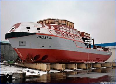 Невский ССЗ спустил на воду четвертый спасатель проекта MPSV12 «Пильтун»