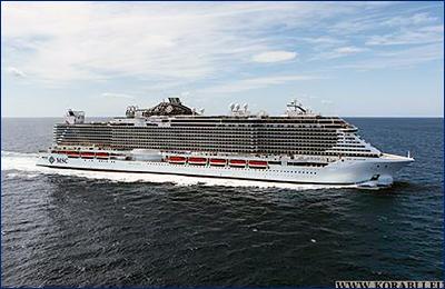 Церемония крещения круизного лайнера «MSC Seaside» состоится 21 декабря в Майами