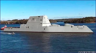 Второй американский эсминец класса «Зумвальт» вышел на испытания