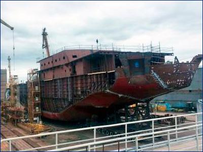 Для ледокола «Обь» проекта Aker Arc 124, строящегося на ВСЗ, доставлено оборудование