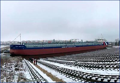 На «Красном Сормово» спущен на воду танкер-химовоз проекта RST27M