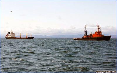 Сахалинские морские спасатели успешно завершили буксировку аварийного сухогруза в порт Южной Кореи