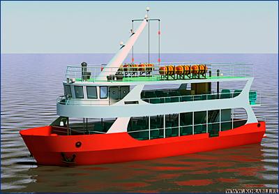 РЦПКБ завершило технический проект пассажирского (прогулочного) судна