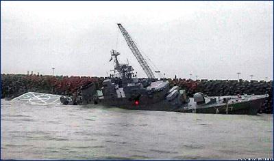 Иранский эсминец «Damavand» (77) погрузился в воду