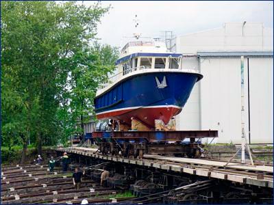 СНСЗ перевел корпус третьего катера проекта Р1650 «Рондо» на достройку