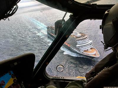 Береговая охрана эвакуировала мужчину с борта круизного лайнера «Koningsdam»