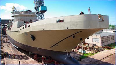 Большой десантный корабль «Петр Моргунов» планируют спустить на воду в мае