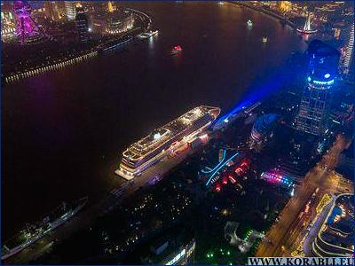 В Шанхае состоялась церемония крещения круизного лайнера «Viking Sun»